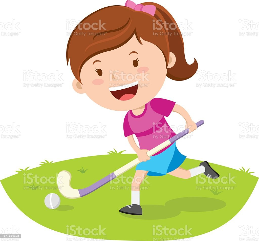 royalty free field hockey player clip art vector images rh istockphoto com clip art hockey goalie clipart hockey gratuit